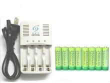 8 Unids Etinesan NiZn 1.6 V 2500 mAh AA Ni-Zn de la Batería Recargable + 4 ranuras de NiMH AA AAA set Cargador de baterías