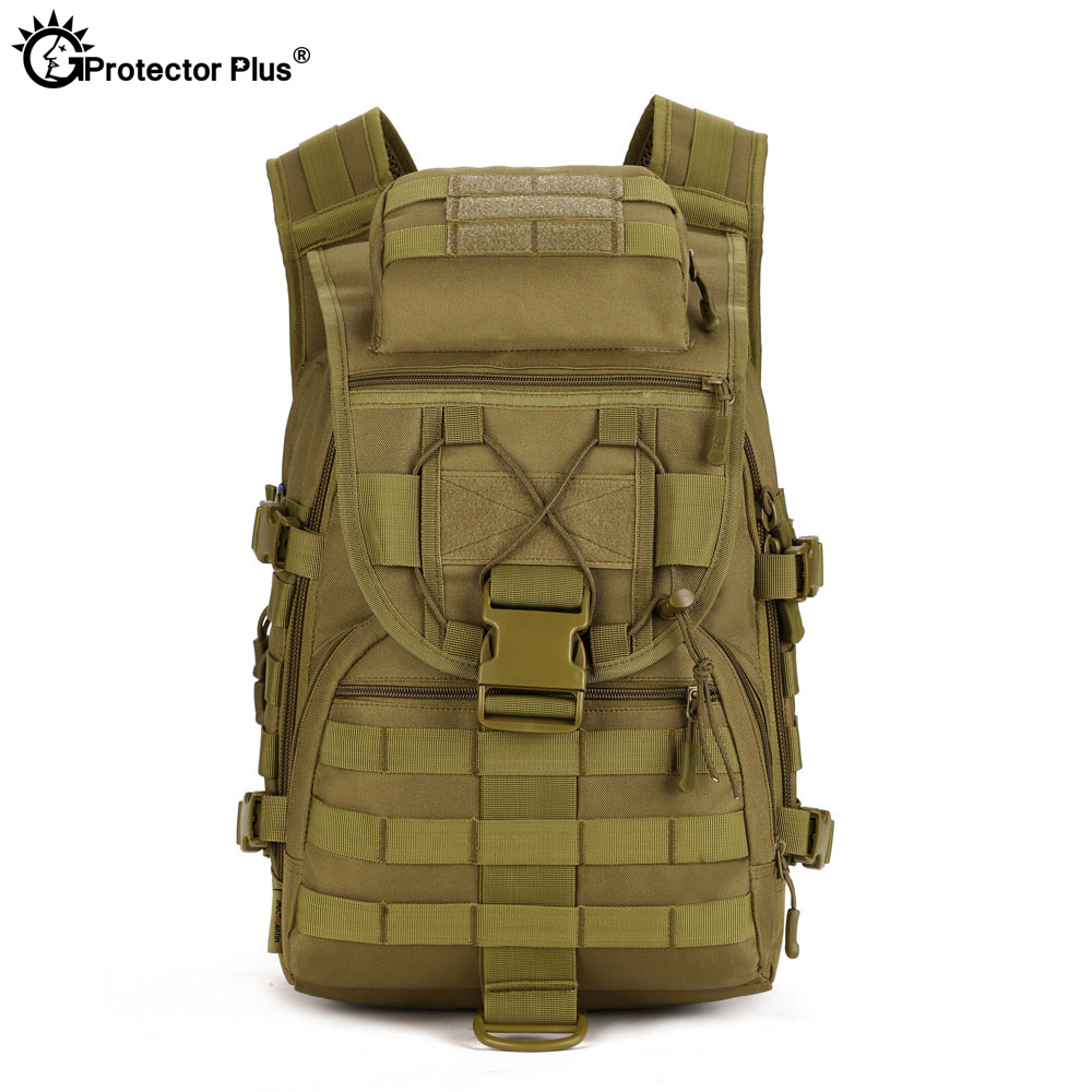 PROTECTOR PLUS Military Style Tactical Backpack Waterproof Bag Aurable Adjustable Equipment Backpack 40L Capacity 6 Colors