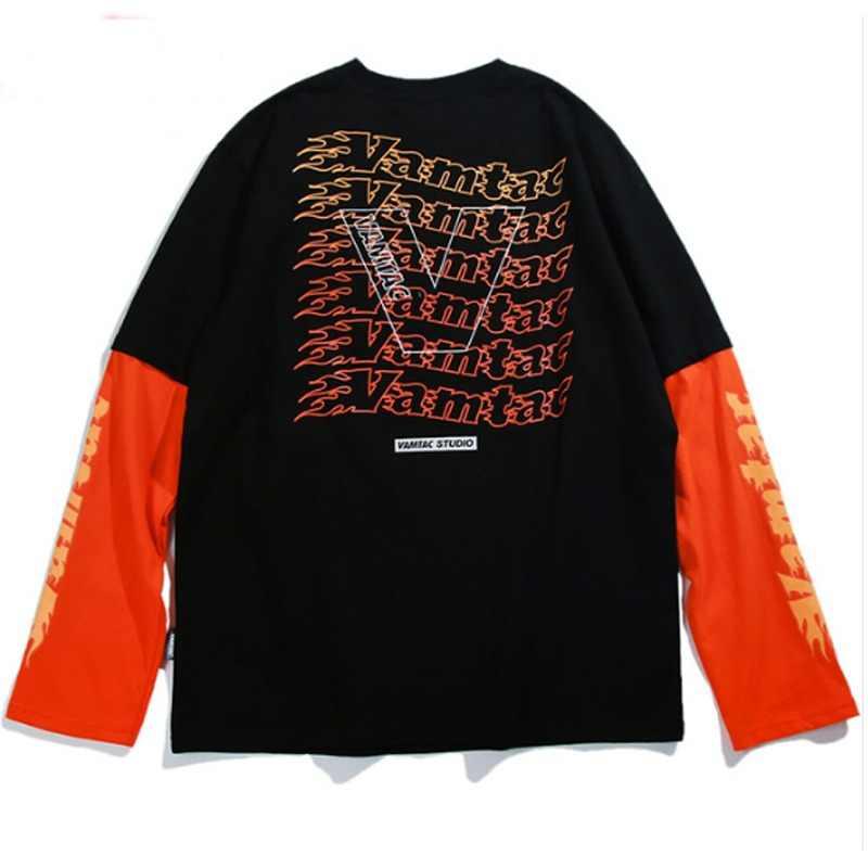 Aelfric Eden camiseta hombres básica de 2018 camisetas carta impresa  Patchwork 2018 Otoño e Invierno jersey 8c8a5c35de5