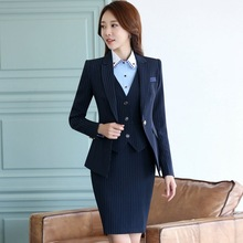 Spring and autumn Female models The New Long sleeves stripe business attire OL Work equipment Formal wear Suit