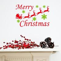 merry christmas snowflake reindeer wall stickers christian room decorations 26. xmas home decals festival mual art posters