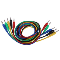 Wholesale 5pcs Banana Plug Testing Lead Cable 5 Color Test Cable Wire For Multimeter Probes Electrical