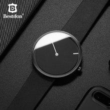 Bestdon Red Dot Design Award No Pointer Watch Men Simple Unisex  Watches Unique Minimalist Tiktok Wormhole Concept Students 2019