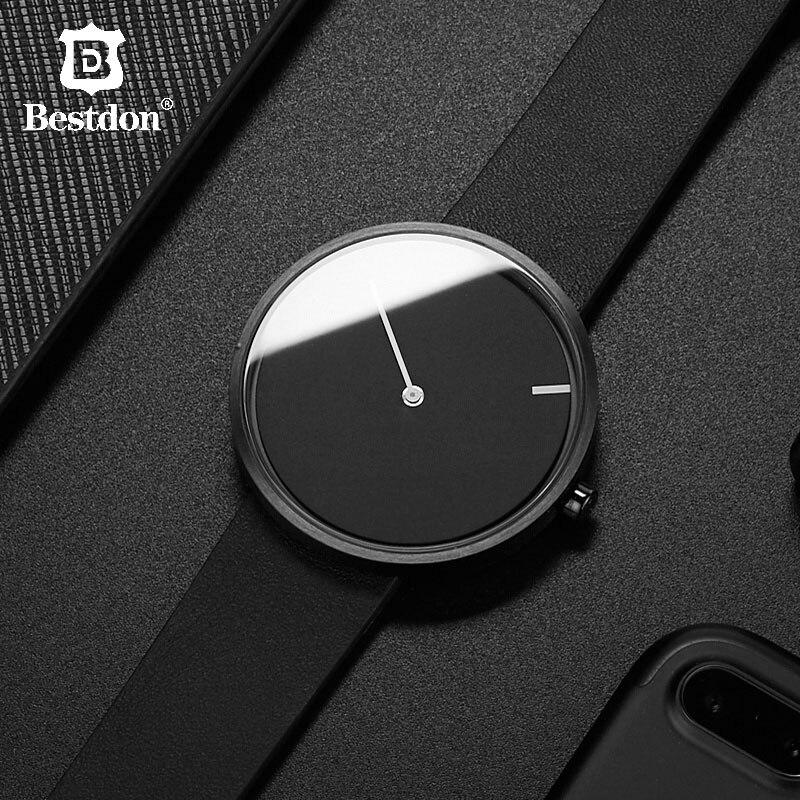 Bestdon rouge Dot Design prix pas de pointeur montre hommes Simple unisexe montres Unique minimaliste Tiktok Wormhole Concept étudiants 2019