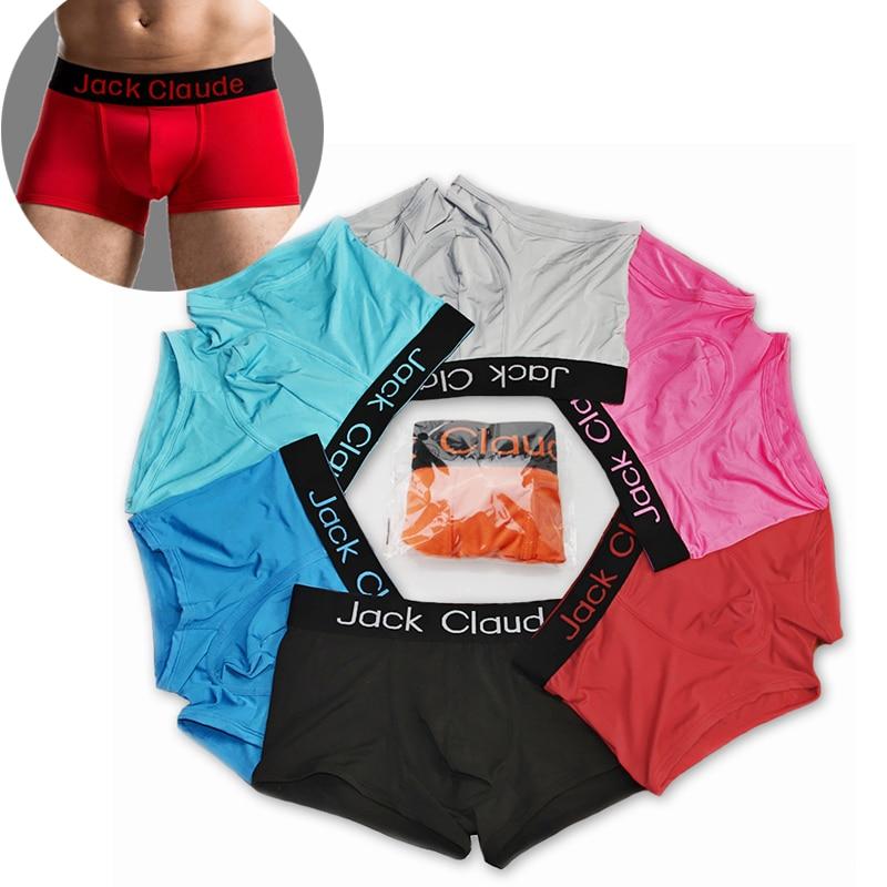 10pcs/lot Jack Claude Underwear Men Boxer Hombre Brand Mens Underwear Boxers Sexy Underwear Male Underpants Cueca Boxer Homme