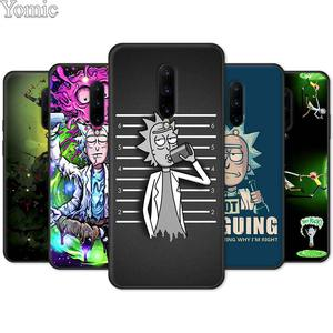 Black Cases for Oneplus 7 7 Pro 5G 6 6T Silicone Phone Case for Oneplus8Pro Rick And Morty Soft TPU Cover Shell Coque Funda Capa(China)