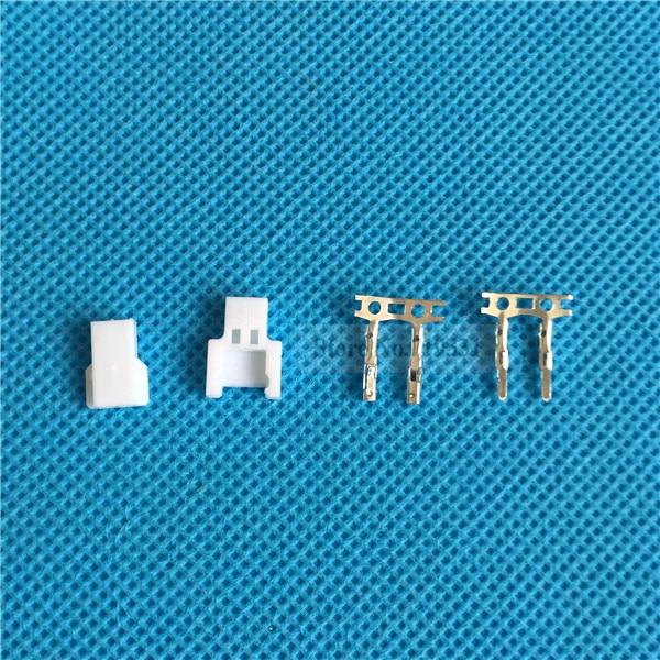 MINI Micro JST 1.25 Losi Walkera 2-pin Connector plug Male Female Crimps x 50T