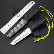 Survival Knife BUCK Fixed 5CR13MOV Blade Knife With Leather Sheath Tactical Knifes Hunting Camping Knives Outdoor Tools KN362