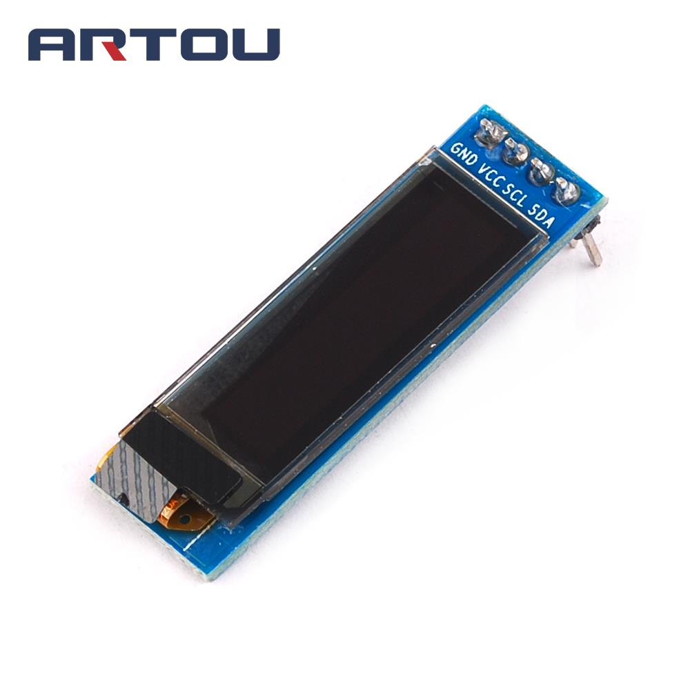 1PCS 0.91 inch 128x32 128 32 I2C IIC Serial Blue OLED LCD Screen