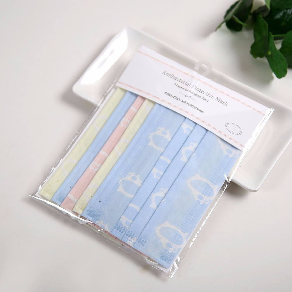 50pcs/Bags Summer New Printing A Variety Of Options Thin One-time Dust Anti-fog Haze Sunscreen Non-woven Fashion Masks