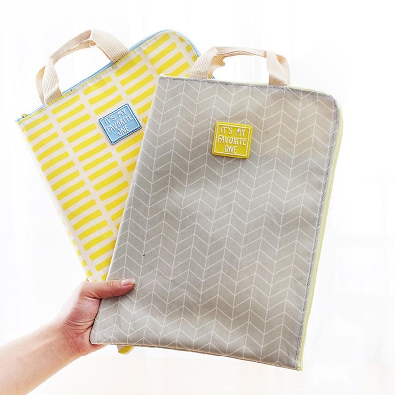 New A4 Waterproof File Folder Bag Office Supplies Organizer Bag Cartella Documenti Archivador Documentos Document Organizer
