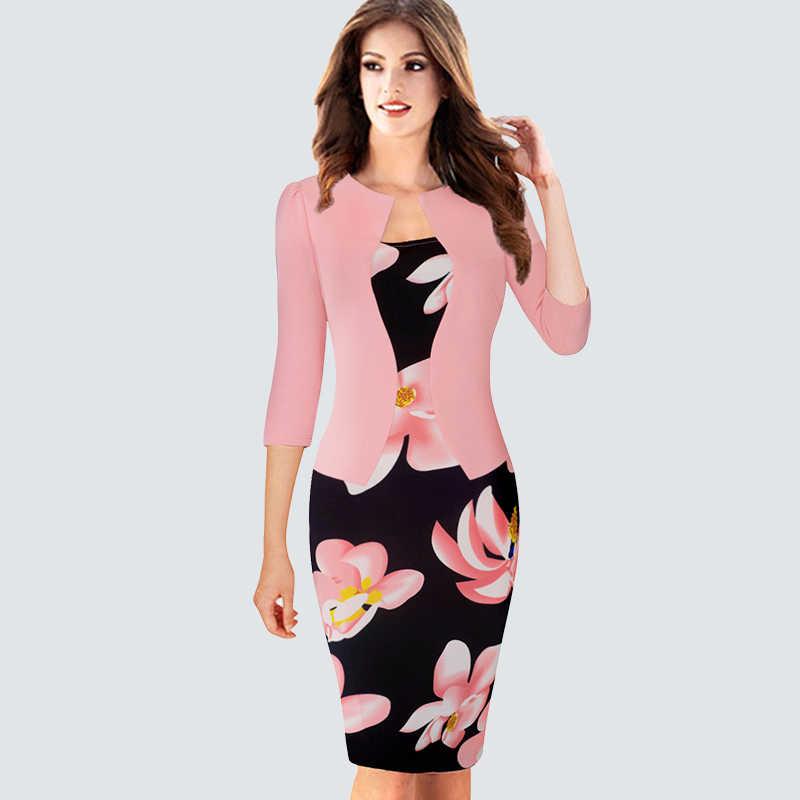 8ea2375f776502d Цельный псевдожакет женское клетчатое офисное платье женское осень-зима  винтажные наряды леди Bodycon Карандаш приталенные