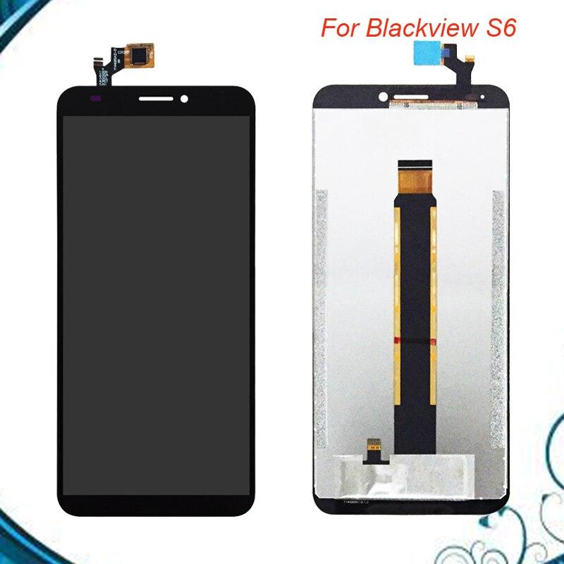 720*1440 Haute Qualité Écran LCD et Digitizer Assemblée Complet Lcd de Remplacement En Verre Pour Blackview S6 LCD Affichage Et écran tactile