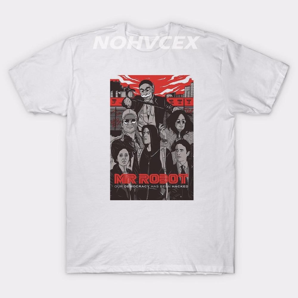 2019 Mode Mr Robot Tshirt Zomer Tshirt Homme Mannen Hip Hop Mr Robot Fsociety T-shirt Kleding