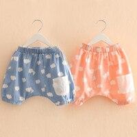 Kz-3662 2017 Summer Wear Korean New Pattern Girl Children's Garment Shorts Baby Children Haren Pants Tight Pants You Tide