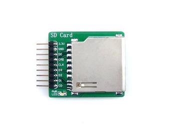 SD do przechowywania płyta obsługuje SDIO i SPI interfejsy SD i karty Micro SD podwójnego zastosowania pokładzie tanie i dobre opinie Waveshare Innych SD Storage Board Low-cost board used to connect microSD cards for mass storage SD and microSD card slot control interface(SDIO SPI supported)