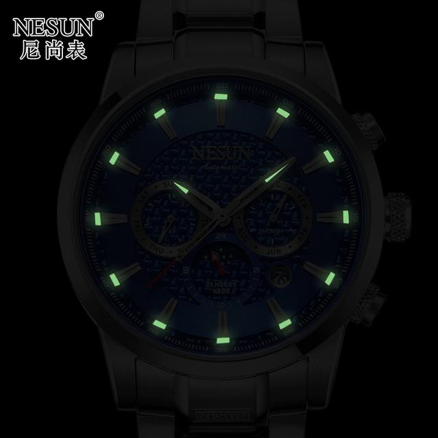 Luxury Brand NESUN Watch Multifunctional Display Automatic Self-Winding 4