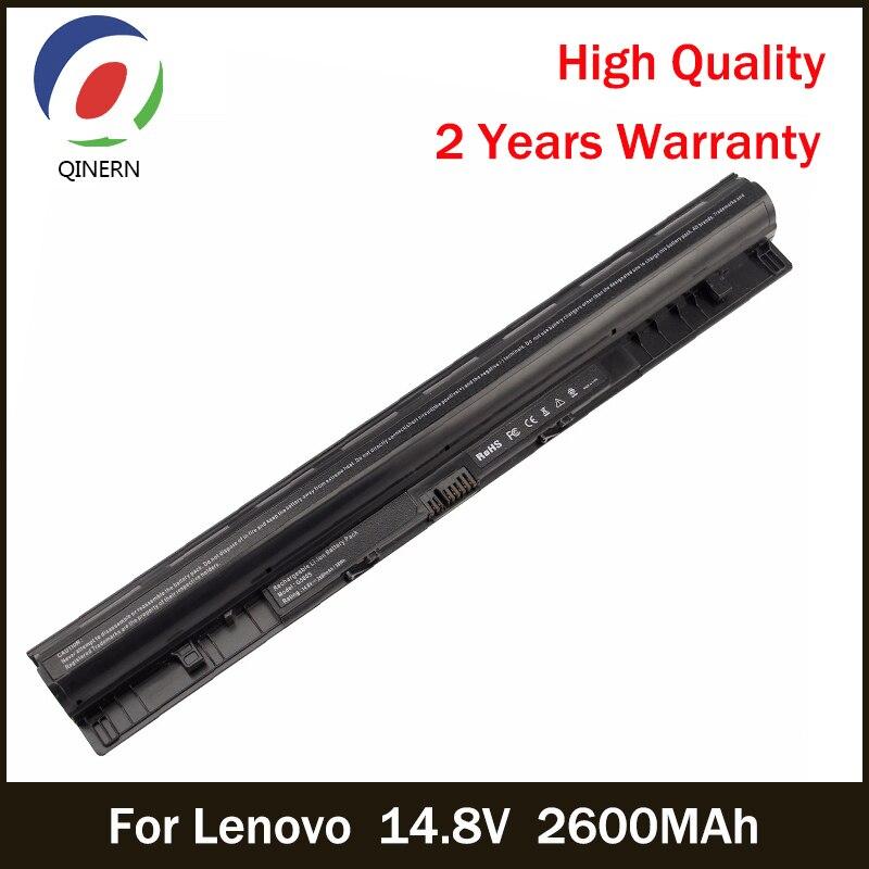QINERN Rechargeable Battery 14.8V 2600mAh Laptop Battery For Lenovo ERASER G50 IDEAPAD Z40 Li ion Batteries Gaming For LENOVO genuine laptop battery for lenovo sb10j78998 01av401