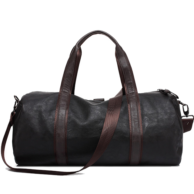 Men's Soft Eco-Leather Sports Bag 3 colors