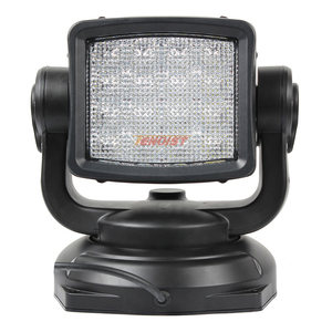Image 4 - Le plus récent un pièces 80W 360 degrés Rotable LED recherche lumière de chasse avec Base magnétique pour Seaboat SUV voiture 12V 24V