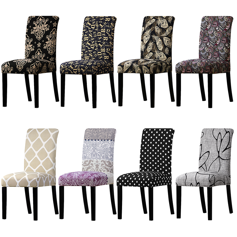 christmas dining room chair covers | Print chair cover Stretch Removable Washable Chair Covers ...