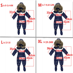Image 4 - Winter Baby Boy Bodysuits Clothing Natural Fur Brand Infant Snow Clothing Hooded Toddlers One piece Overalls Clothes Gift