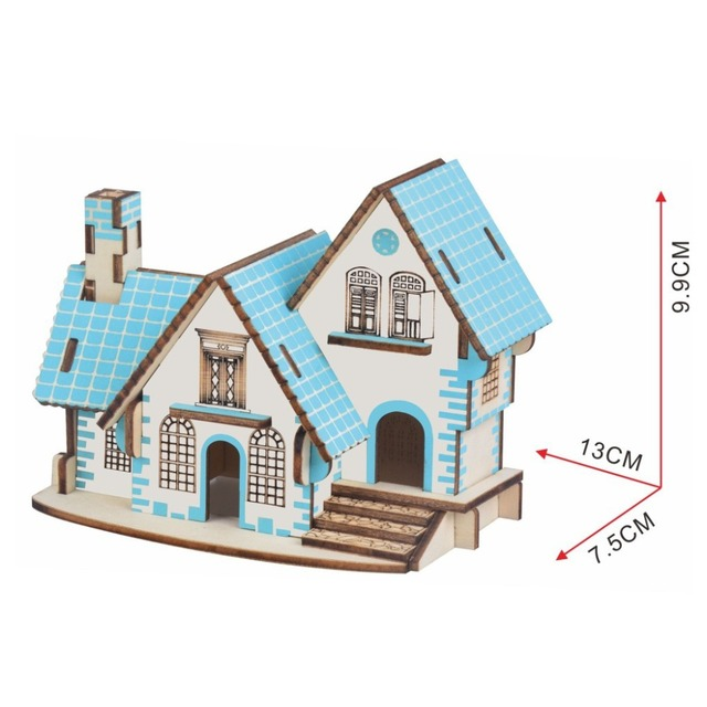 Lulong 3D Wooden Puzzle Wood Jigsaw Woodcraft Assembly Kit