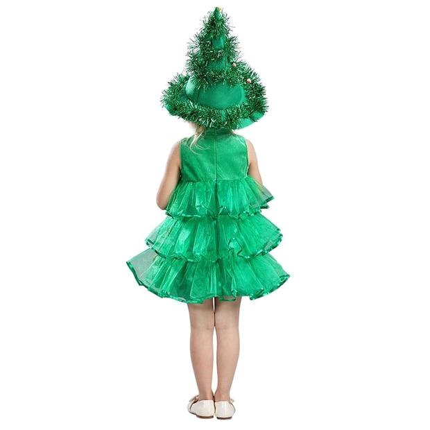 Christmas Tree Dress Costume: Baby Girl Sleeveless Dresses Children Green Clothes