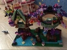Bela 10414 507Pcs The Elvesed Treetop Hideaway Building Block set Azari Firedancer mini Toys Compatible with