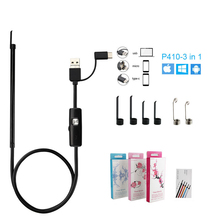 New 3 In 1 Visual Ear Spoon Borescope Cleaning Tool USB Mini Camera Android PC Pick Health Care Otoscope