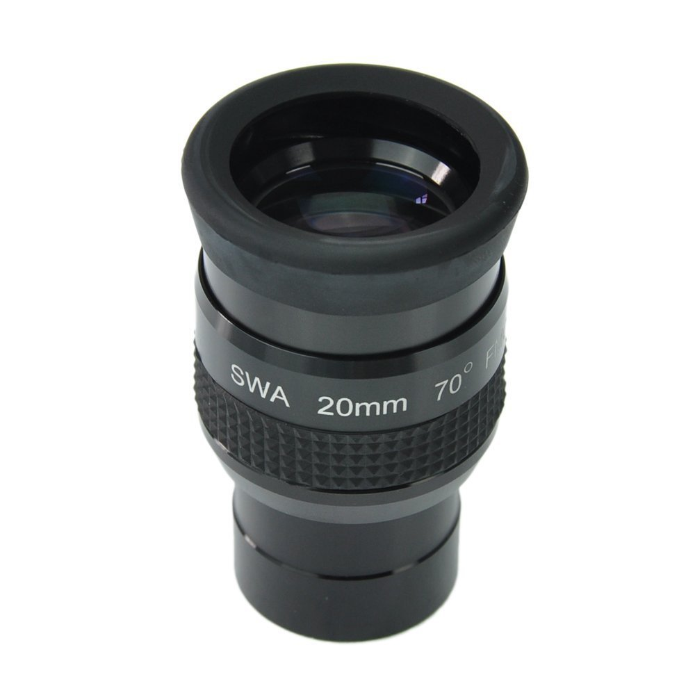 SWA 1.25inch 20mm Super Wide Angle 70 Degree Eyepieces for Astronomical Telescope - Five Elements Fully-coated High-index Glass окуляр veber swa erfle 20mm 23067