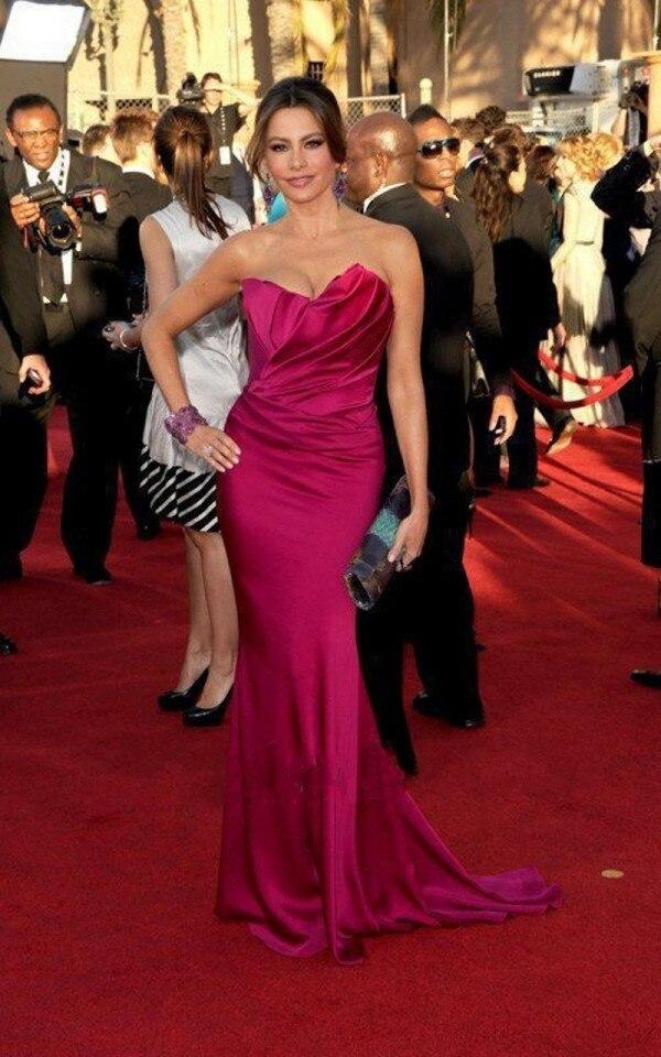 Rouge robe de star sirène celebrité