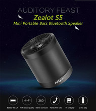 ZEALOT S5 Portable Bluetooth Speaker Column Wireless Subwoofer Super Bass Stereo USB TF Card Play With Microphone цена и фото