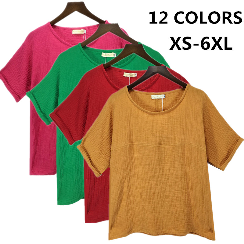 aac6d09896e1f22 2019 новые летние женские хлопковые льняные рубашки, Повседневная Блузка  Топы, большие размеры S-