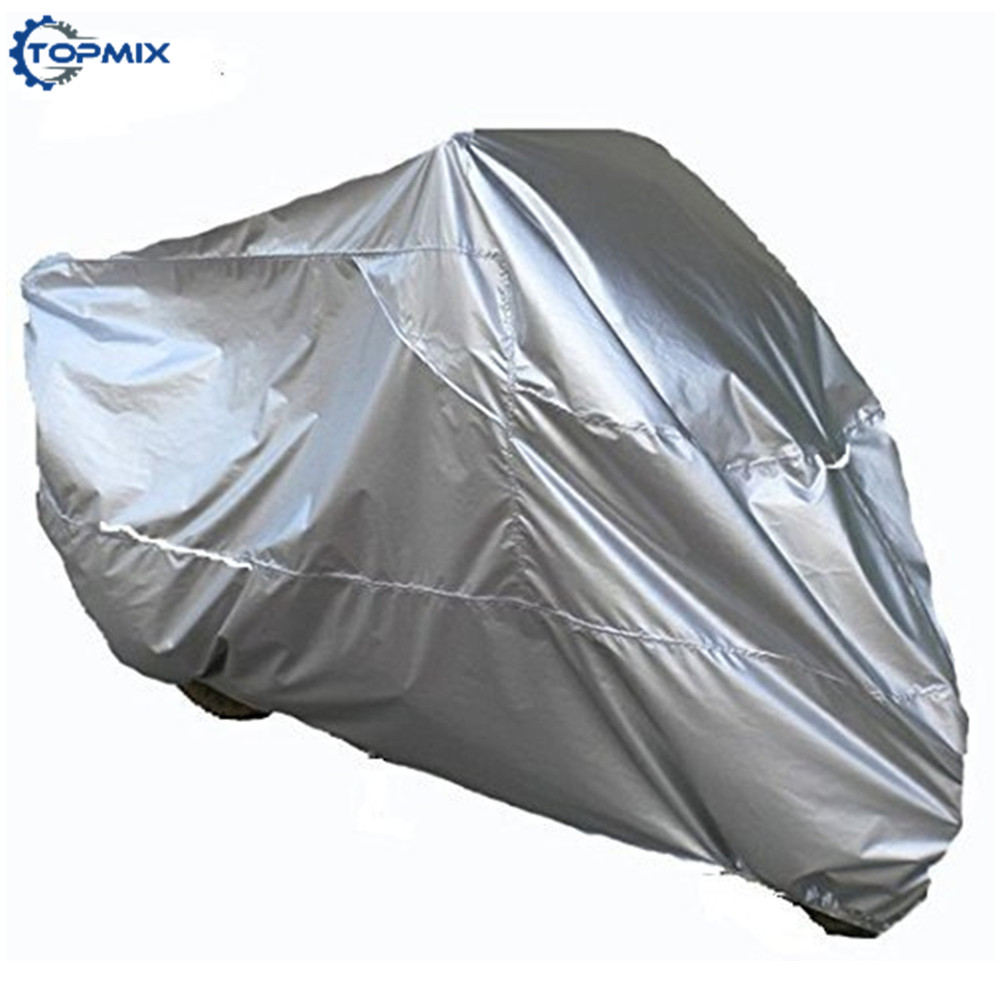 XL/XXL/ XXXL Silver Breathable Motorcycle Cover Weatherproof UV Rain Dustproof Outdoor Motorcycle Bike Moped Scooter Covers