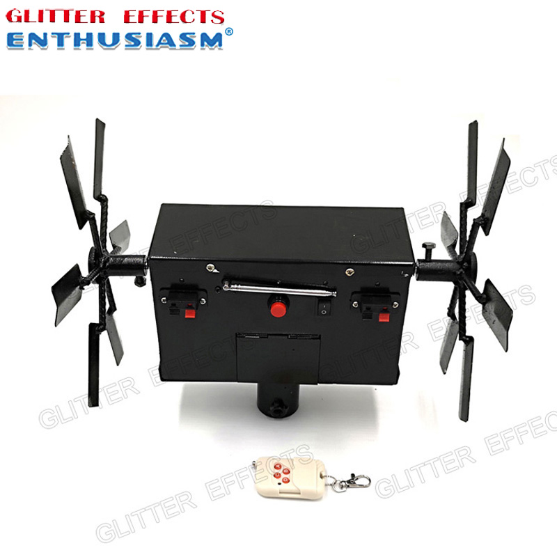 ELT02R double wheel remote control stage spinning cold fountain fire machine for partyELT02R double wheel remote control stage spinning cold fountain fire machine for party