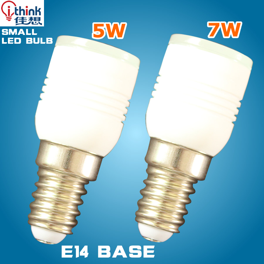 E14 Base Led Lamp Small Size Light 5w 7w Led Bulb Smd 3014 24 Pcs Leds Spotlight Bulb Ac 110v