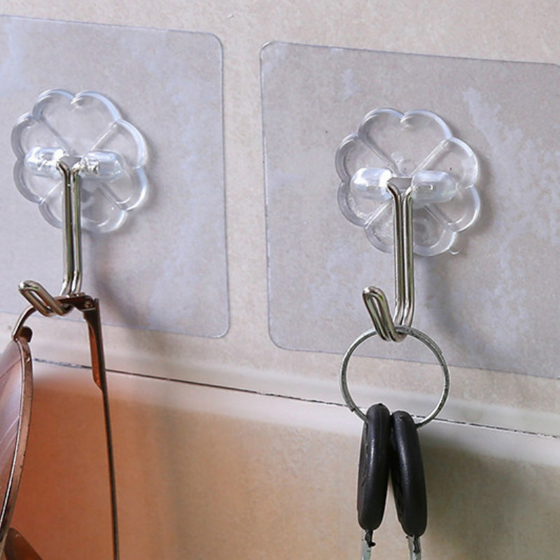 Big Promotion 1PCS Strong Home Kitchen Hooks Transparent Suction Cup Sucker Wall Hooks Hanger For Kitchen Bathroom
