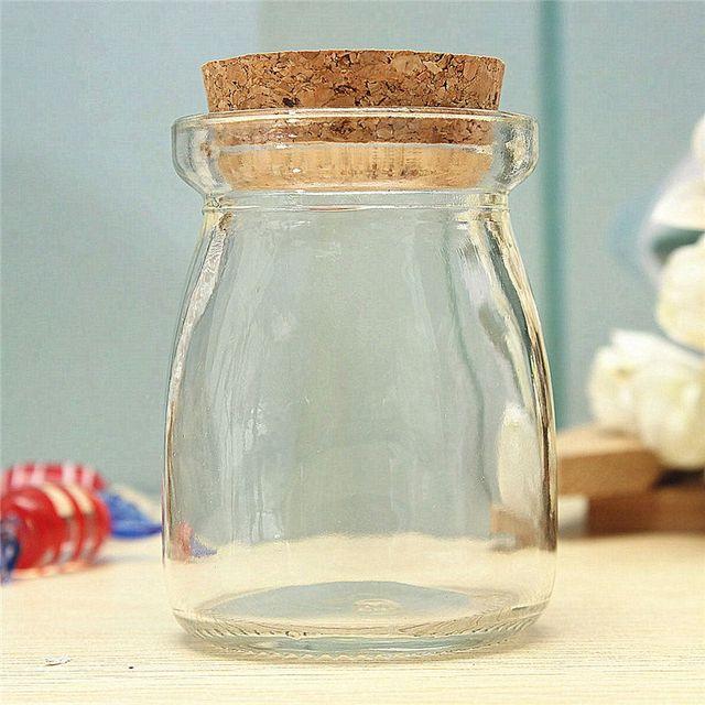Online Shop KiWarm 100ml Mini Small Clear Glass Storage Jars Bottle