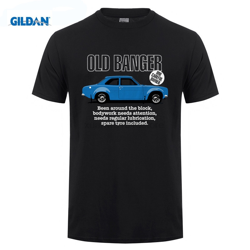 GILDAN Old Banger Mk1 Escort Mens Funny Classic Ford T Shirt - Gift for Dad Fathers Day 100% Cotton T-Shirts