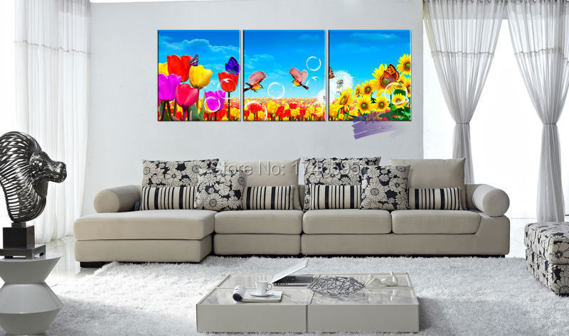 3pcs Big Size Abstract Home Decor Wall Art Picture Canvas