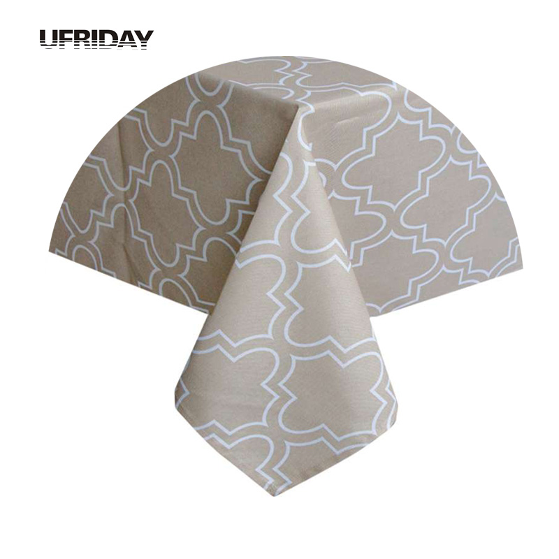 UFRIDAY Moderna geometriska tryckta bordduksduk för rektangulära toalha de mesa mantlar Durable Waterproof Table Cover