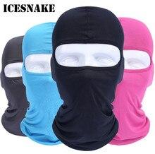 ICESNAKE Bike Balaclava Motorcycle Face Mask Summer Breathable Full Sun Protection Helmet Cap Hat Neck