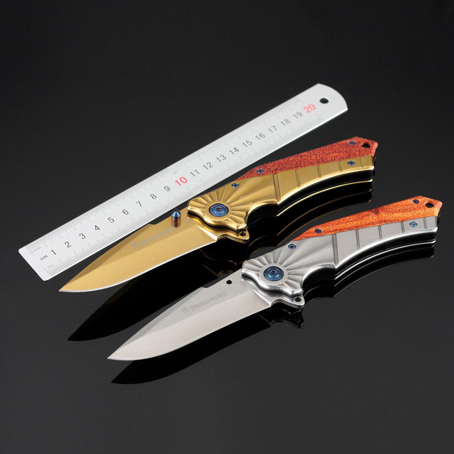 Browning Multifunction font b Tactical b font Pocket Folding font b Knife b font 7CR17 Steel