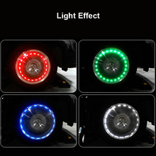 2pcs/set Car Waterproof Solar Energy Wheel Light Decorative Flashing Colorful LED Tire Tuning Gas Nozzle Cap