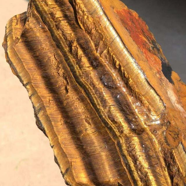 Œil de tigre jaune naturel 300g | Cristal de Quartz spécimen de pierre brute pour la guérison
