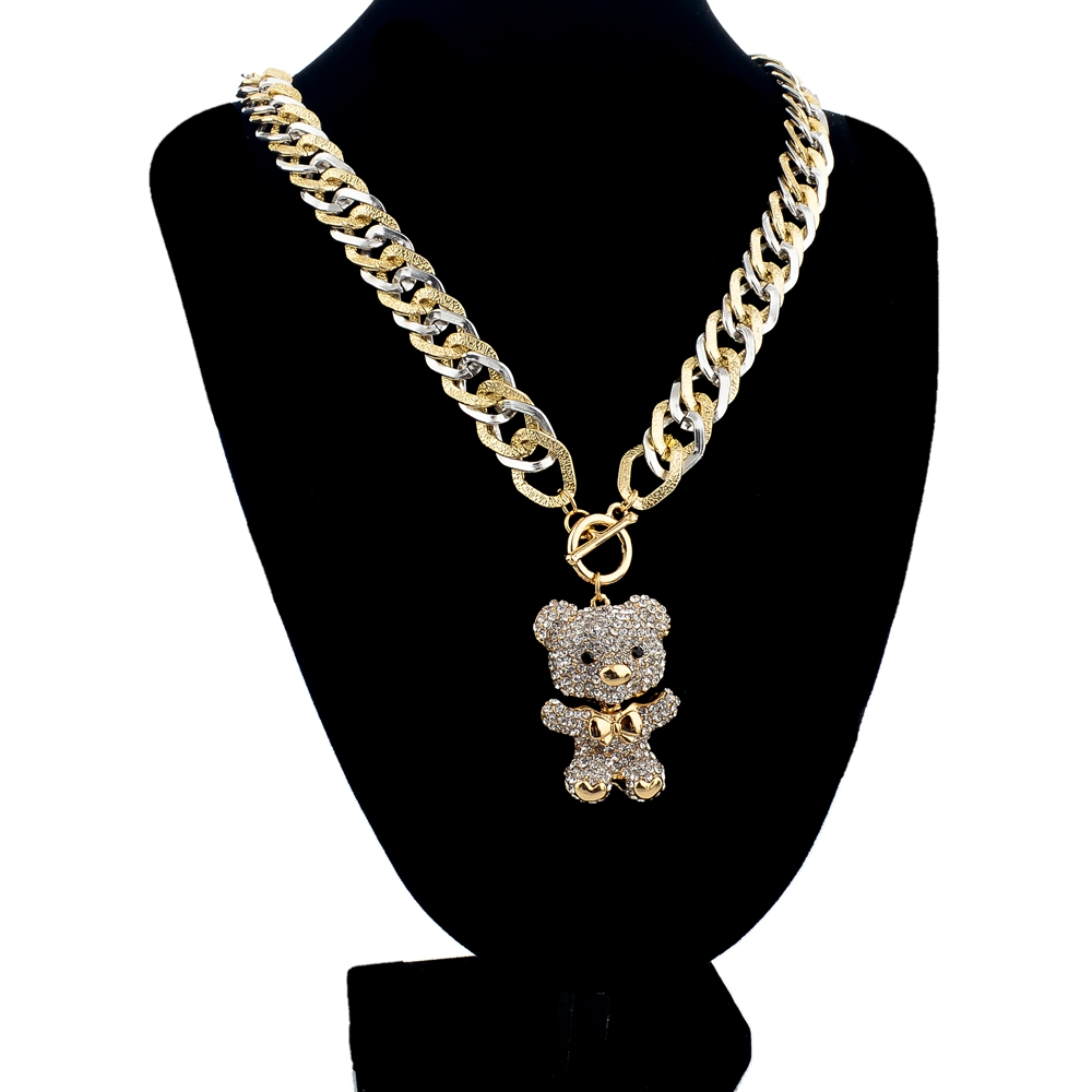 LongWay Long Statement Gold Color Necklace Designs Vintage Crystal ...