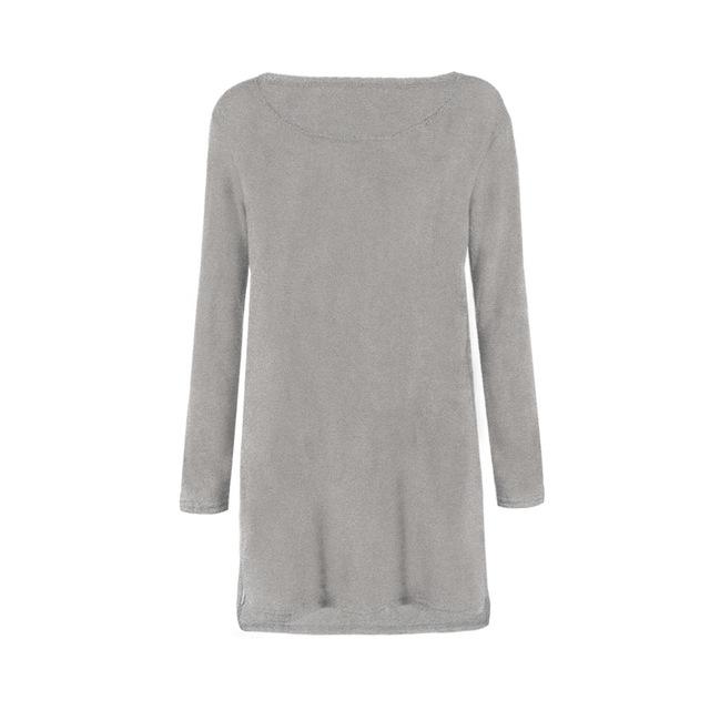 Women Long Sleeve Long Maxi Sweater casual Pullovers Autumn Winter Female Zipper Jumpers