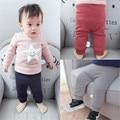 Rápida de Alta Calidad Ropa de Bebé 2016 de La Moda Coreana Linda de Lana de Punto Pantalones Elásticos Pantalones de los Bebés Ropa de Otoño y Primavera