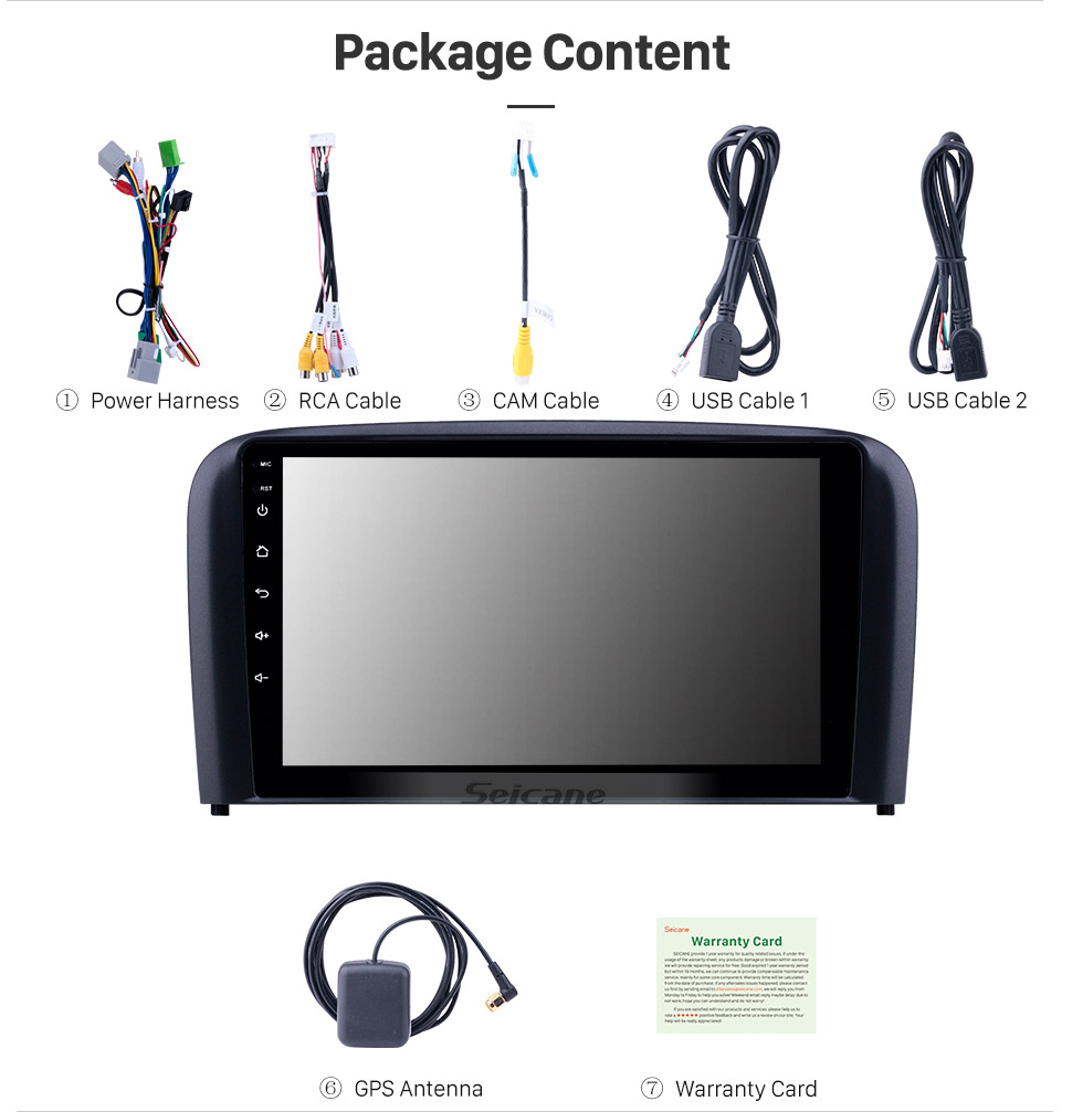 "Clearance Seicane 9"" Android 8.1 Car GPS Radio for 2004 2005 2006 Volvo S80 AUX support Carplay DVR OBD Digital TV Car Multimedia player 16"